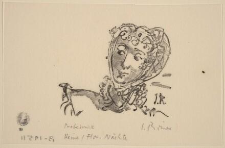 Illustration to Heine, Florentinische Naechte