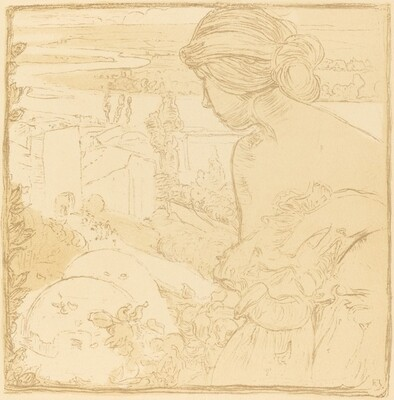 Woman's Figure in Landscape