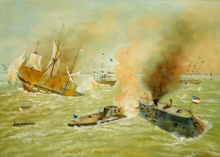 Engagement between the Monitor and the Merrimac