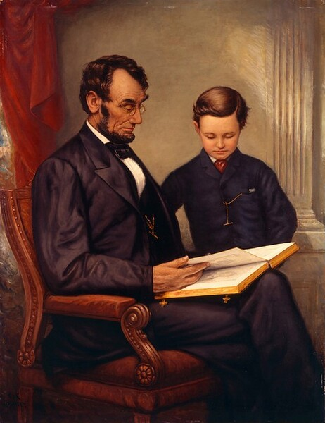 Lincoln and His Son, Tad