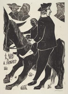 A Man a Boy and a Donkey