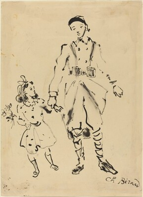 French Soldier and Child