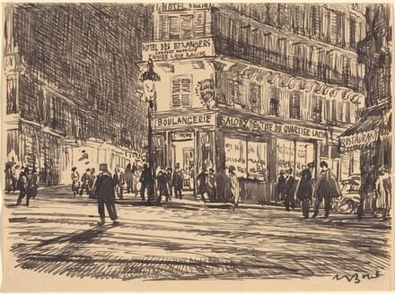 Night, Boulevard St.-Michel, Paris