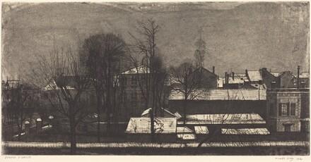 Les grands toits sous la neige