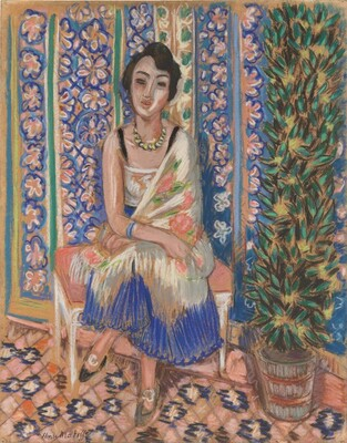 Image result for Henri Matisse  Woman with Exotic Plant  , c. 1925