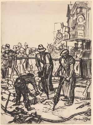 Concrete Demolishing - Piccadilly Circus