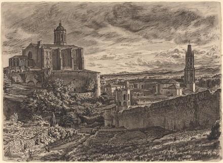 Sunset - Cathedral And Walls, Gerona