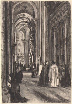 Aisle in Santiago Cathedral
