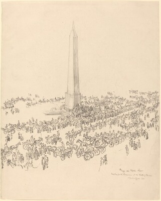 Crowd on the Piazza del Popolo, Rome