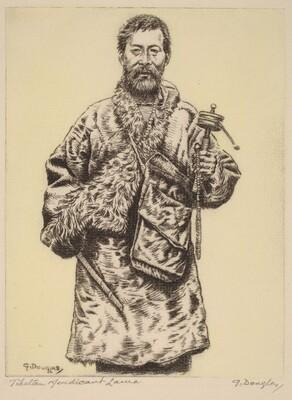 Tibetan Mendicant Lama, Darjeeling