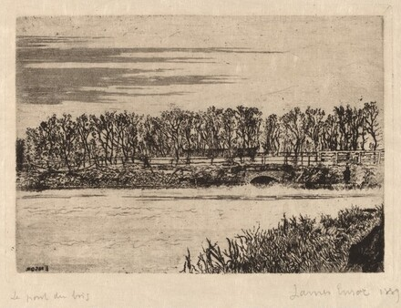 The Bridge in the Woods, Ostend (Le pont du bois a Ostende)
