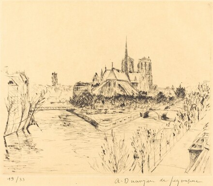 Notre Dame (Notre-Dame de Paris vue de la Tour d'Argent)