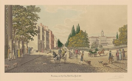 Broadway and the City Hall, New York, 1819
