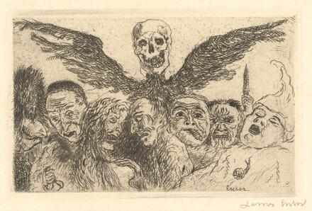Death Dominating the Deadly Sins (Les Peches capitaux domines par la mort): front.