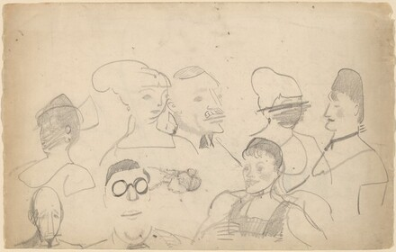 Sketches of Heads, Including One of Chester Dale