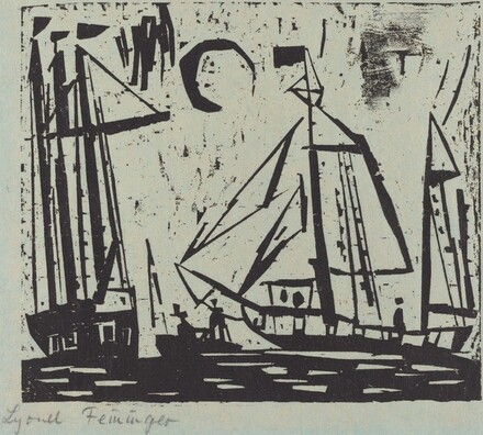 Sailboats with Moon (Segelboote mit Mond)