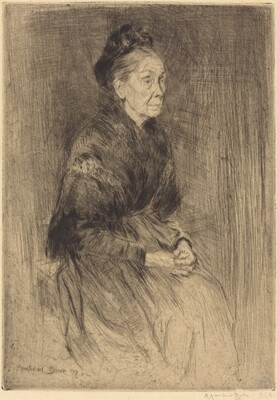 Mrs. Drummond, in a Shawl, to the Right