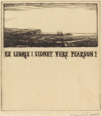 Bookplate of Dr. Sidney Vere Pearson