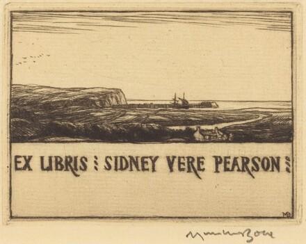 Bookplate of Dr. Sidney Vere Pearson