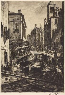 Canal and Bridge of S.S. Apostoli, Venice