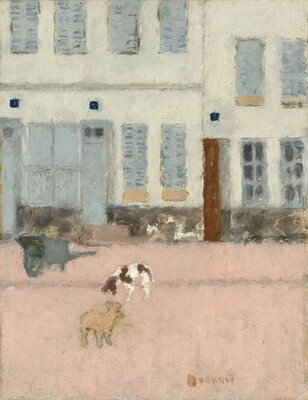 Two Dogs in a Deserted Street
