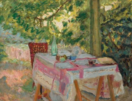Table Set in a Garden