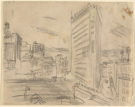 Study for The City from Greenwich Village, I