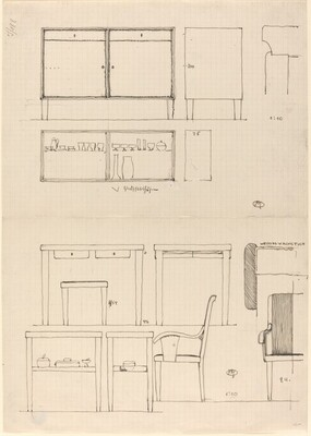 Folded Sheet with Designs for Furniture