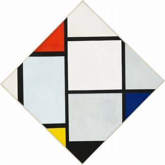 Piet Mondrian, Tableau No. IV; Lozenge Composition with Red, Gray, Blue, Yellow, and Black, c. 1924/1925c. 1924/1925