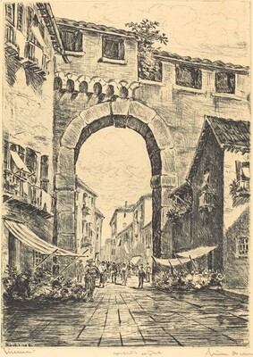 Street Scene with Arch
