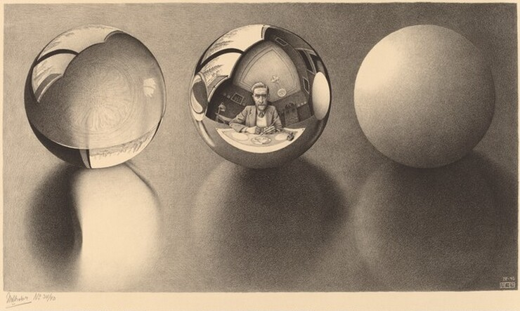 the life and works of mc escher Although escher's work with strange geometry and mathematical impossibilities are his most famous works,  mc escher — life and work escher pages: mc escher.