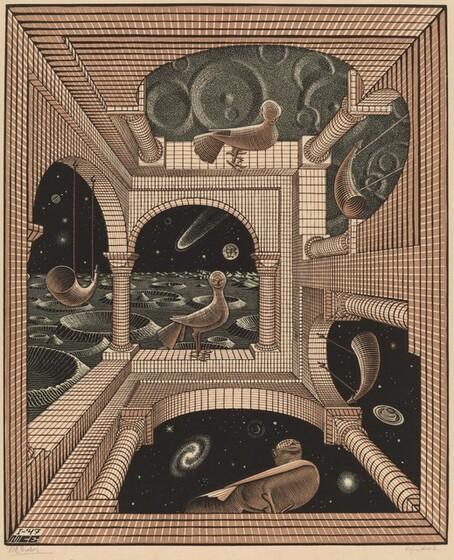 the life and works of mc escher The life and works of mc escher math in art: starting in 1937, he created woodcuts using the concept of the 17 plane symmetry groups in 1941, escher summarized his.