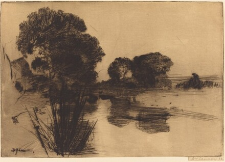 Landscape with Trees: A Dry-Point