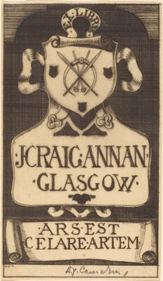 Bookplate of J. Craig Annan