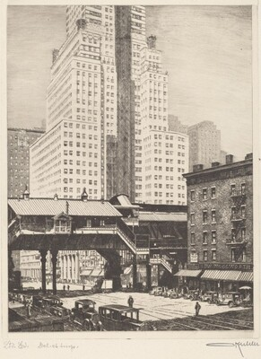 Third Avenue El at 42nd Street, c. 1923
