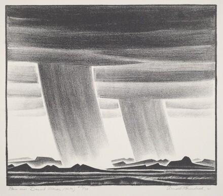 Rain Over Desert Mesas