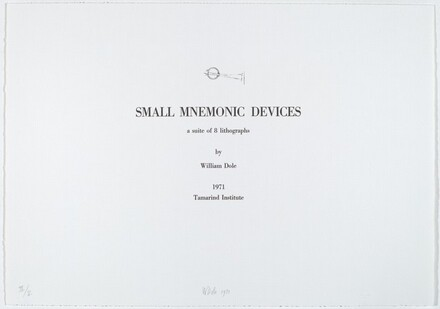 Title Page for Small Mnemonic Devices