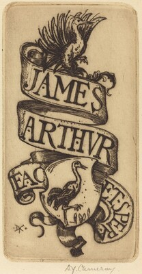 Bookplate of James Arthur