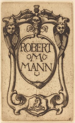 Bookplate of Robert M. Mann