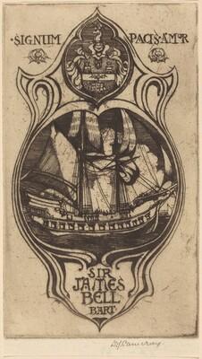 Bookplate of Sir James Bell, Bart