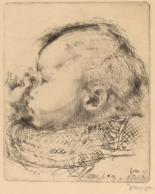Head of the Artist's Infant Daughter, Lea