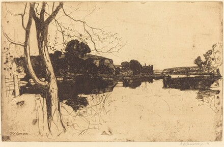 Lowland River: An Etching