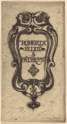 Bookplate of Roberta Elliot S. Paterson