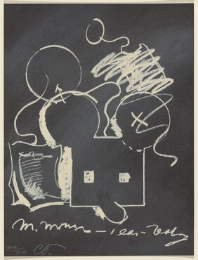 M. Mouse (with) 1 Ear (equals) Tea Bag Blackboard Version (1965)