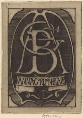 Bookplate of Anna Gordon Blair