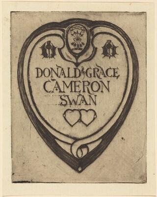 Bookplate of Donald Grace (Cameron Swan)