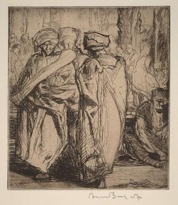 Middle Eastern Market Scene