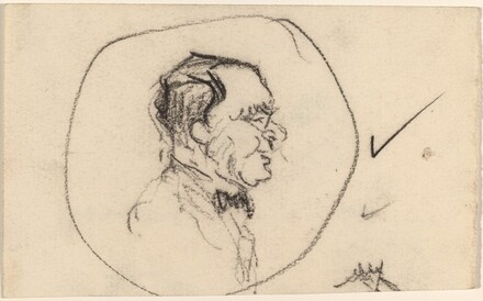 Profile Portraits of Men [recto and verso]