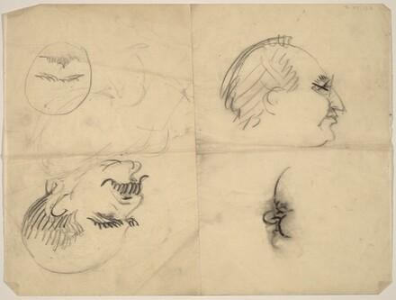 Three Profile Caricatures of Men