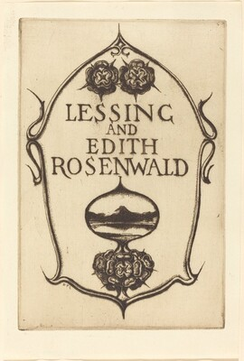 Bookplate of Lessing and Edith Rosenwald